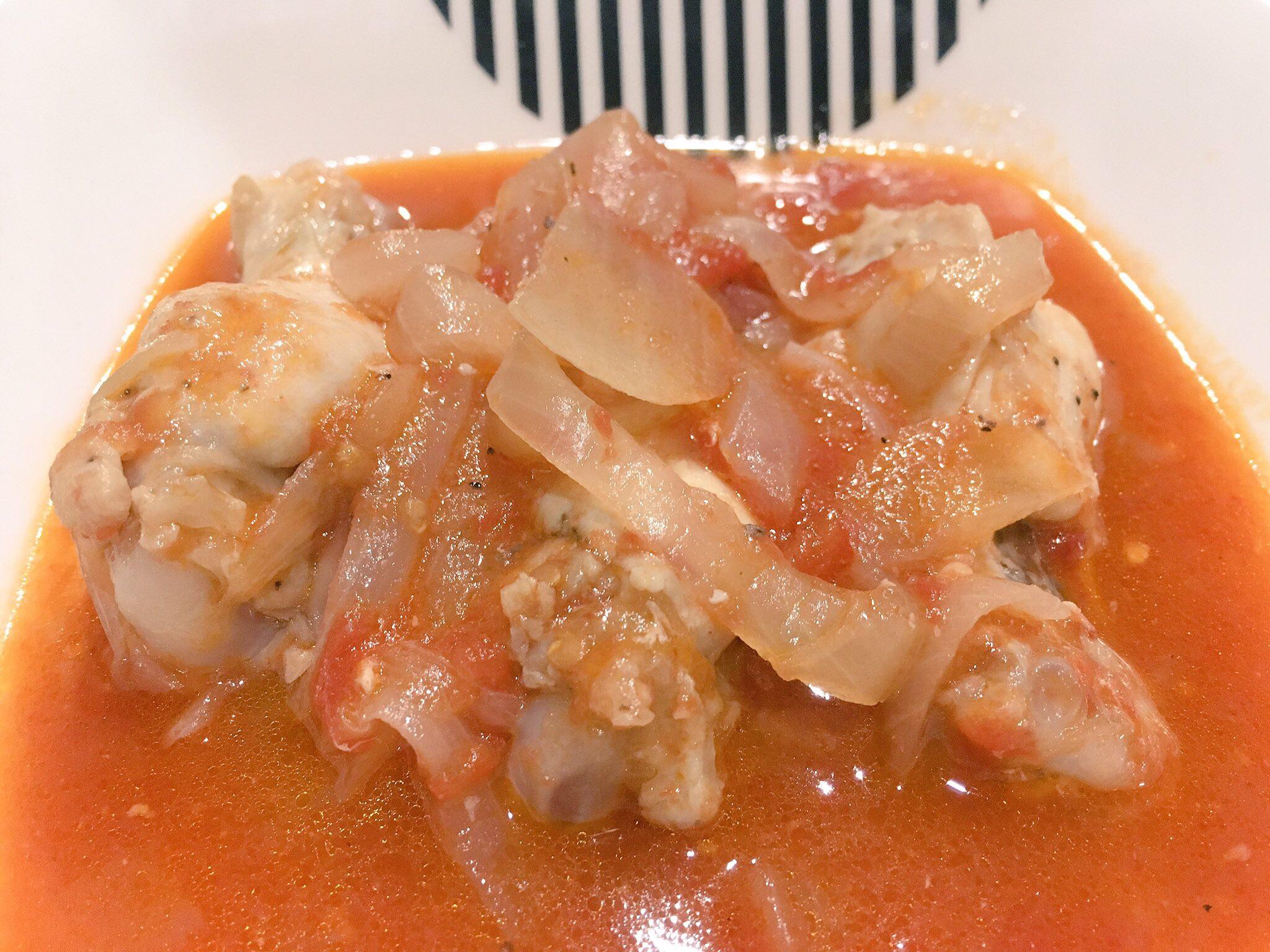 ホットクックでほろほろチキンのトマト煮込みアイキャッチ画像