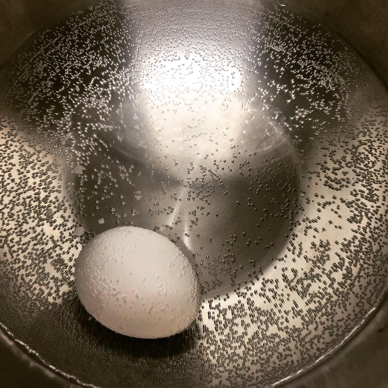 ホットクックで温泉卵加熱後