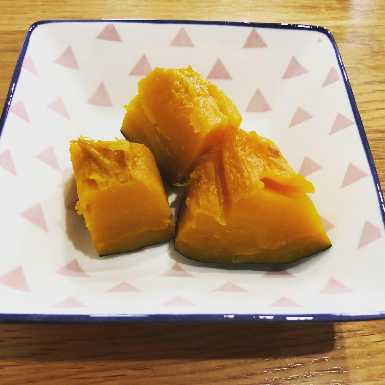 ホットクックで蒸しかぼちゃ完成